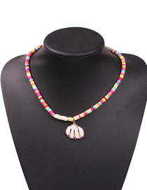 Fashion Color Alloy Resin Shell Necklace
