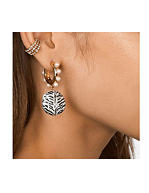 Fashion Gold Alloy Dripping Leopard Earrings