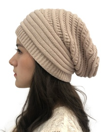 Fashion Beige Knitted Wool Hat