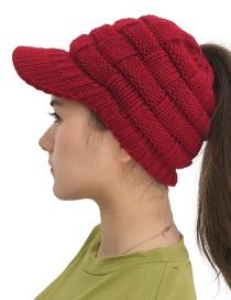 Fashion Jujube Hollow Wool Cap