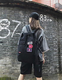Fashion Black Labeled Backpack