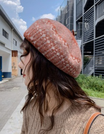 Fashion Wavy Wool Red Wine Thick Wool Wavy Beret