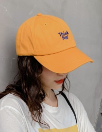 Fashion Think Turmeric Soft Top Letter Embroidery Curved Baseball Cap