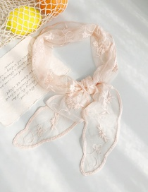 Fashion Lace Gauze Apricot Lace Flower Triangle Scarf