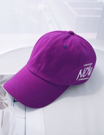 Fashion Now Purple Printed Letter Baseball Cap