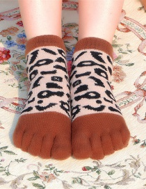 Fashion Polka Dot Coffee Animal Cartoon Tube Toe Socks