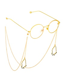 Fashion Gold Irregular Wave Point Chain Glasses Chain