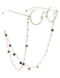 Fashion Gold Copper Round Chain Glasses Chain