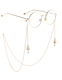 Fashion Gold Studded Anti-slip Angel Dancer Glasses Chain
