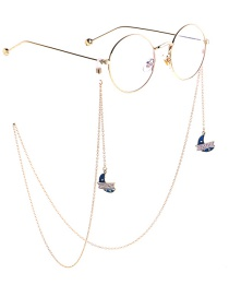 Fashion Gold Non-slip Metal Stars Moon Glasses Chain