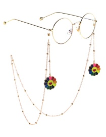 Fashion Gold Chain Sunflower Beaded Glasses Chain