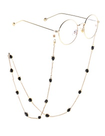 Fashion Gold Full Crystal Chain Glasses Chain
