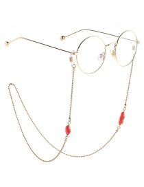 Fashion Red Beaded Chain Acrylic Crystal Non-slip Glasses Chain