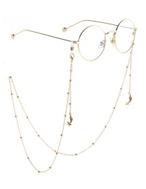 Fashion Gold Meteor Clip Metal Chain Glasses Chain