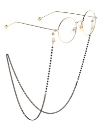 Fashion Black Chain Black Pearl Glasses Chain