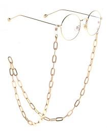 Deslizamiento De Cadena De Gafas De Color Dorado Sin Decoloración