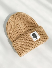 Fashion Handprinted Camel Cloth-knitted Baby Wool Hat  Wool