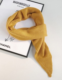 Fashion Angled Scarf Turmeric Knitted Woolen Collar