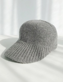 Fashion Wool Knit Dark Grey Knitted Wool Baseball Cap