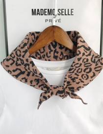 Fashion Leopard-print Diamond Coffee Knitted Color Triangle