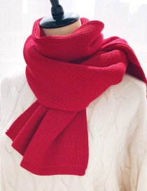 Fashion Knitted Monochrome Slab Red Knitted Scarves