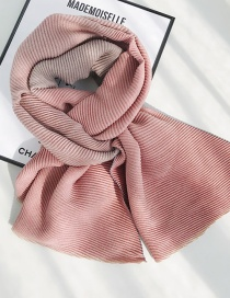 Fashion Gradient Pleated Skin Red Coffee Imitation Cashmere Scarf Shawl Dual Purpose