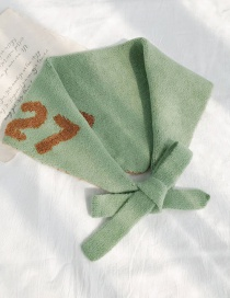 Fashion N.27 Diamond Towel Green Digital Knit Diamond Wool Scarf