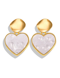 Fashion Love Gold Sequined Acrylic Earrings