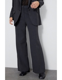 Fashion Dark Gray Pleated Straight Pants