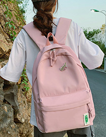 Fashion Pink Cartoon Word Labeling Backpack