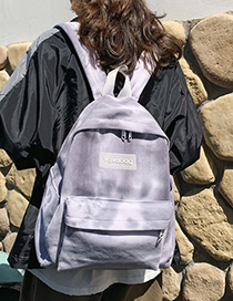 Gray Silicone Letter Labeling Canvas Backpack