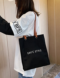 Black Letter Hand Shoulder Shoulder Bag