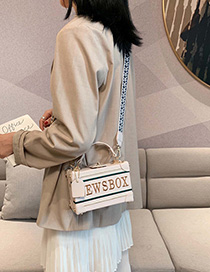 Creamy-white Broadband Single Shoulder Messenger Bag