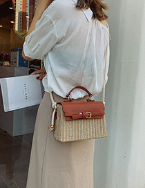 Brown Straw Hand Bag