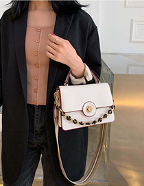 Creamy-white Broadband Shoulder Crossbody Bag