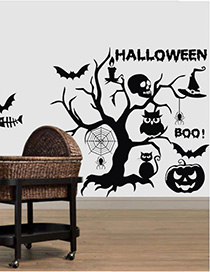 Fashion Multicolor Kst-9 Halloween Wall Sticker