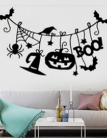 Fashion Multicolor Kst-72 Halloween Pumpkin Bat Wall Sticker