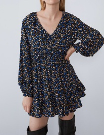 Fashion Color Printed Layered Dress