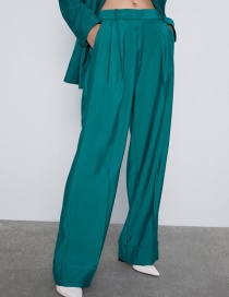 Fashion Lake Green Cuffed Trousers