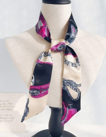 Fashion Rice Bottom Rope Black Rose Long Narrow Scarf