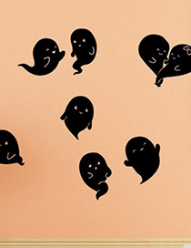 Fashion Multicolor Kst-18 Halloween Ghost Wall Sticker