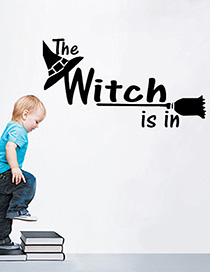 Fashion Multicolor Kst-8 Halloween The Witch Is In Wall Sticker