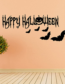 Fashion Multicolor Kst-66 Halloween Wall Sticker