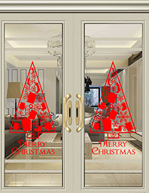 Fashion Red Ss-20 Christmas Gift Christmas Tree Wall Sticker
