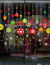 Fashion Xh6258 Color Cartoon Hanging Ball Christmas Wall Sticker