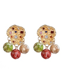 Fashion Color Titanium Steel Plated Flower Pearl Earrings