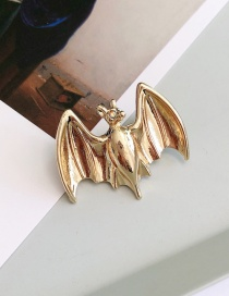 Fashion Gold Drilling Bat Brooch