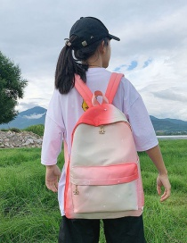 Fashion Red Gradient Star Crown Crown Backpack