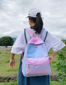 Fashion Pink Gradient Star Crown Crown Backpack