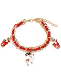 Fashion Red Elk Suede Chain Santa Claus Elk Bracelet